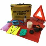 Kit antipollution ADR sans absorbants en sac de transport